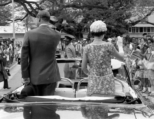 Queen Elizabeth on tour Trinidad and Tobago